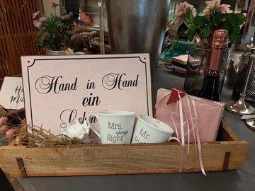 Hochzeitsgeschenk schön verpackt