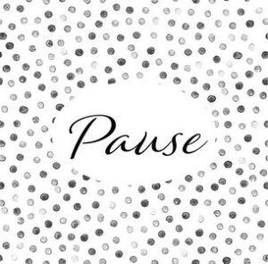 """Serviette """"Pause"""""""
