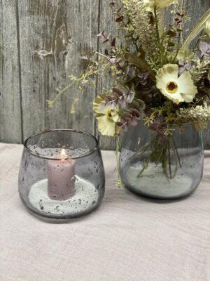 Vase aus Glas rauchig