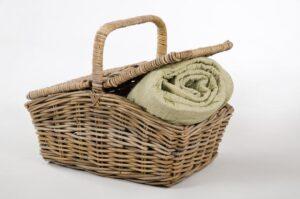 Rattan - Picknickkorb grau