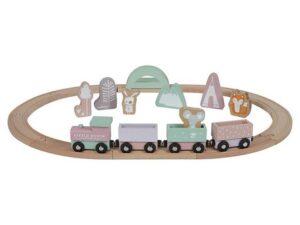 Holz - Eisenbahn mit Schienen - Little Dutch