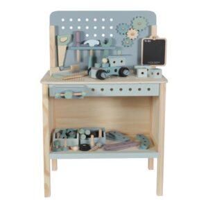 Spielwerkbank aus Holz blau/mint - LITTLE DUTCH