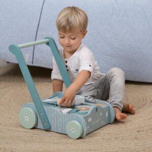 Lauflernwagen mit Bauklötzen - LITTLE DUTCH
