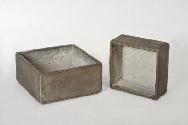 Beton-Schale eckig, antra, 2 verschiedene Grössen
