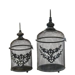 Vogelkäfig schwarz metall